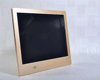 "Super Slim Metal Gold Color 8"" LCD Digital Photo Frame Album HD 1024x768 Player"