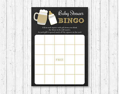 BaByQ Baby Is Brewing BBQ Printable Baby Shower Bingo Cards