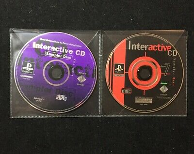PlayStation PS1 Interactive CD Sampler Disc Lot- Volume 4, Volume 7