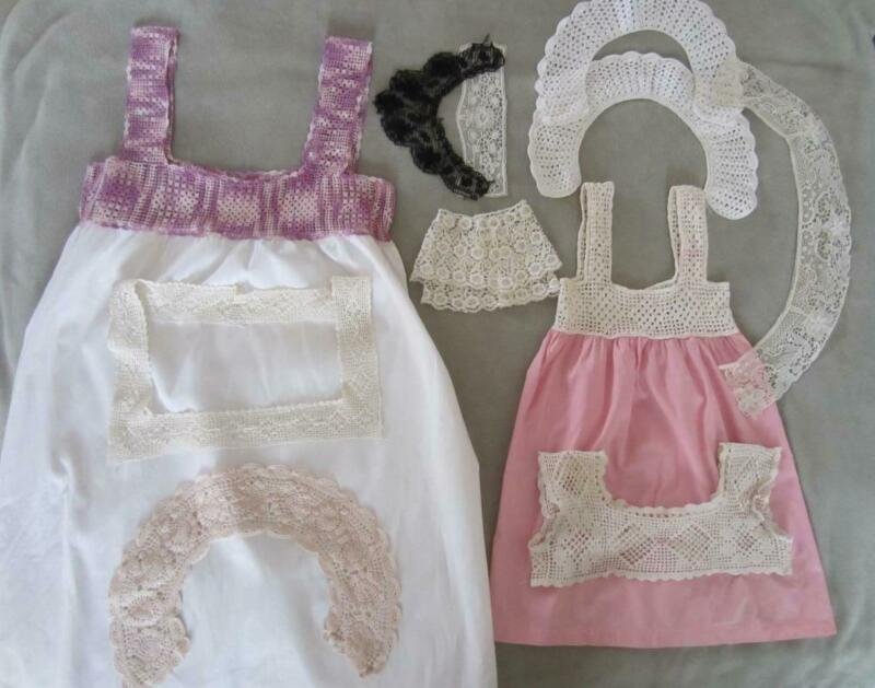 *Vintage and Antique Crochet, Lace - Collars, Bodices, Gowns, Cuffs - Estate