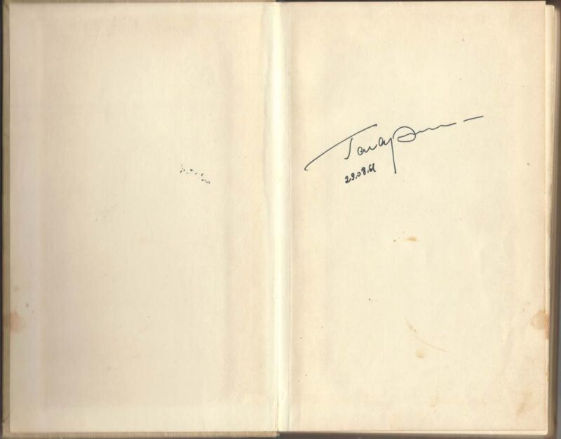 "RUSSIAN SOVIET COSMONAUT GAGARIN SIGNED AUTOBIOGRAPHY BOOK "" ROAD TO SPACE"""
