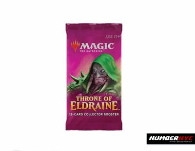1x MTG Throne Of Eldraine Collector Booster Pack Magic The Gathering Foil Draft