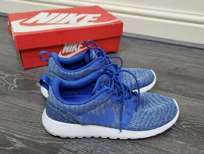 Boxed Mens Womens Blue Knit Jacquard Nike Roshe one running shoes size 8 EU 42.5