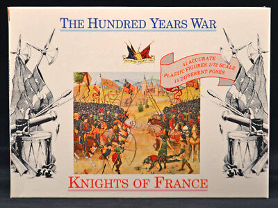 RETIRED Accurate 7207 100 Years War French Knights HO 25mm 41 figures