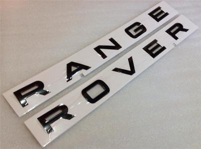 Car Parts - GENUINE RANGE ROVER VOGUE BONNET BOOT BADGE LETTERS *GLOSS BLACK*