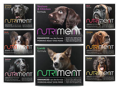 Nutriment Raw Dog Food 9kg Dog Starter Mixer assortment Box frozen Food BARF