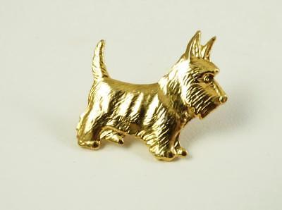 Goldtone Scottish Terrier Dog Lapel/Hat Pin
