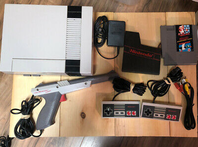 Complete Nintendo NES System Action Set Console Bundle Clean Works Perfectly