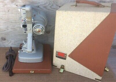 Vintage Clean Keystone 109D 8mm Film Projector with Film Splicer & Case