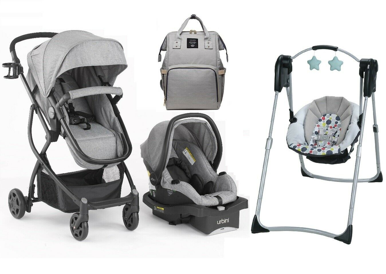 Baby Compact Swing Diaper Bag Stroller Infant Car Seat Trave