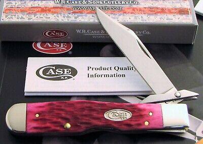 Case Cheetah Knife 2012 Magenta Hot Pink Bone Handles Good Snap Nice & Mint! NR