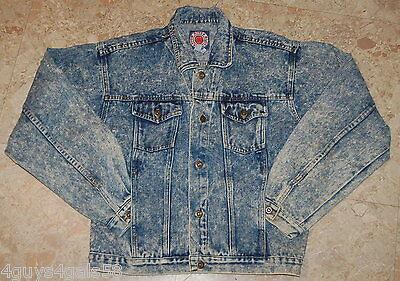 Womens Jean Jacket STONE WASHED Blue Denim XL 18-20 CANYON RIVER BLUES