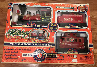 Lionel G Gauge Christmas HOLIDAY TRAIN Set 62134 Engine, Car, Caboose & Track