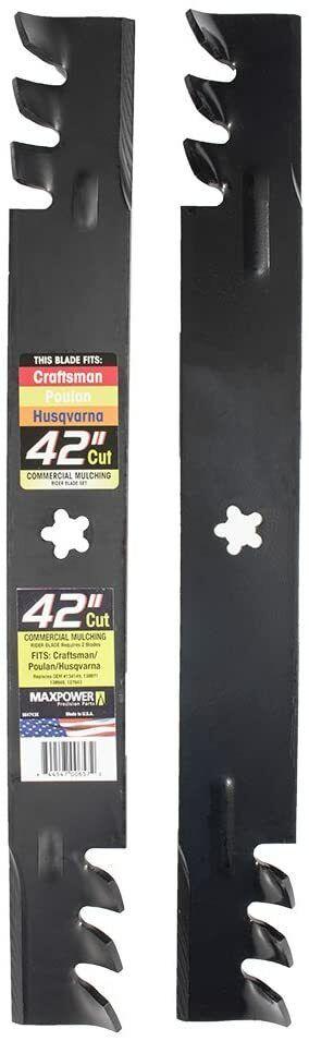 2 blade set for 42 inch poulan