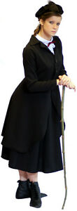 STEAMPUNK-VICTORIAN-FANCY-DRESS-Nanny-Mcphee-costume-Sizes-SML-PLUS