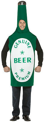 Green Beer Bottle Alcohol Funny Comic Fancy Dress Up Halloween Adult Costume (Beer Bottle Costumes)