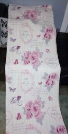 Reversible Pink/White Single Bed Set, Vintage Style. Cotton Blend. Matalan