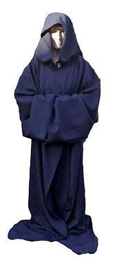 Black Heavy Wool type Fabric Robe/Reaper/Wizard/Fancy-Dress/Halloween