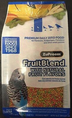 Zupreem Fruit Blend Keet S Bird Food pellet diet 14oz parakeet parrotlet