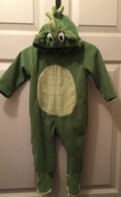 Carters Baby DINOSAUR Dragon cute Halloween Costume 9 months Green footed