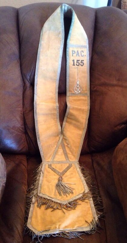 Antique Fraternal Sash Special Occasion / Meeting