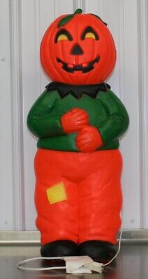 1995 Union Products Halloween 31 Inch Scarecrow Pumpkin Man Lighted Blow Mold