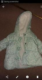 Girl's next winter coat 6-9 months