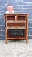 Small Solid Teak Side Table Sideboard Hall Table Distressed Style Coogee Eastern Suburbs Preview