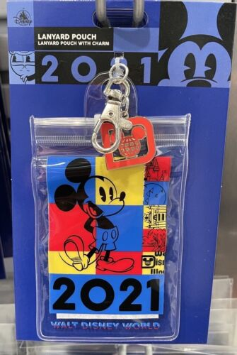 Disney Parks DATED 2021 MICKEY Pin Trading Lanyard Pouch Clip