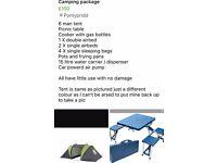 6 berth tent.