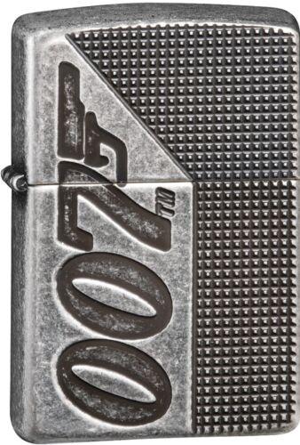 Zippo James Bond 007 Antique Silver Plate Armor Windproof Lighter 49033 *NEW*