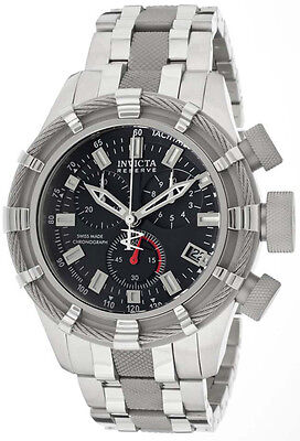 Swiss Made Invicta 10540 Reserve Bolt Chronograph Mens Watch w/ 3-Slot Dive Case
