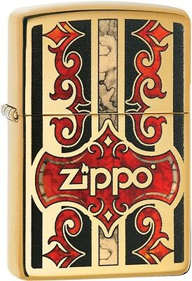 Zippo Lighter: Zippo Red and Black Design, Fusion - High Pol