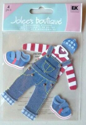 Jolees LITTLE BOYS CLOTHES Outfit Boy Overalls Shoes Hat Dress Up  Stickers -