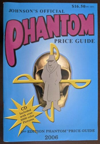 The Phantom Ghost Who Walks Official Price Guide 2006 Johnson w CD Unused