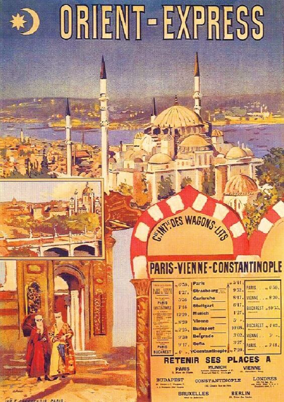 The Orient Express France French European Travel Art Poster Advertisement