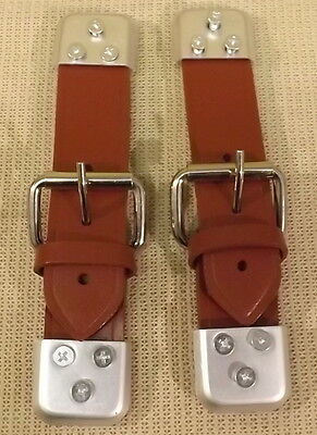 CLASSIC MINI LEATHER BONNET STRAPS - (SOLD IN PAIRS) - BROWN LS2BR