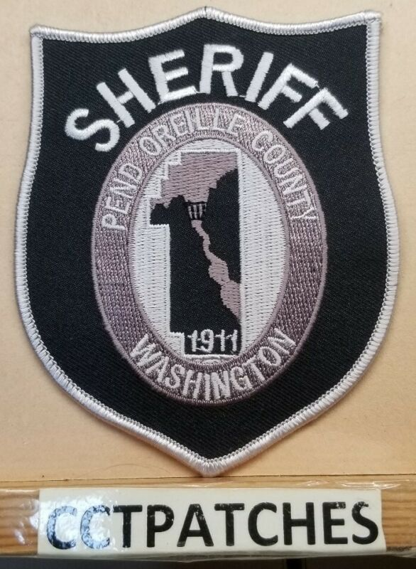 PEND OREILLE COUNTY, WASHINGTON SHERIFF SUBDUED (POLICE) SHOULDER PATCH WA