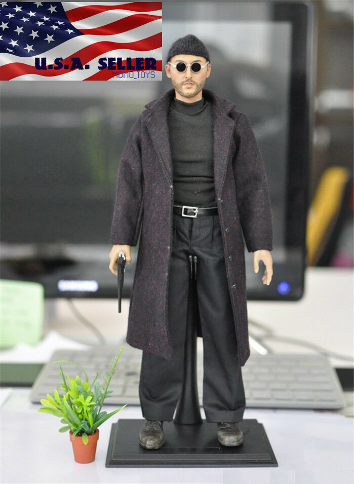 "Custom 1//6 Jean Reno Head Sculpt Model For 12/"" HOTTOYS Action Figure Body Doll"