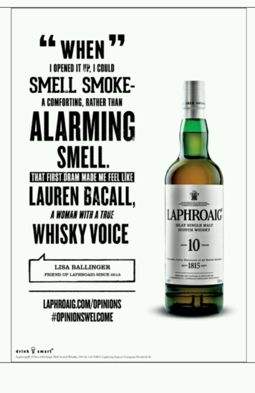 Laphroaig poster 18 by 26. New