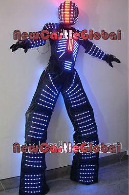 Led-Licht Laser Roboter Kostüm Anzug Leuchtend Kryoman Roboter Rabe Ballsaal - Led Licht Anzug Kostüm