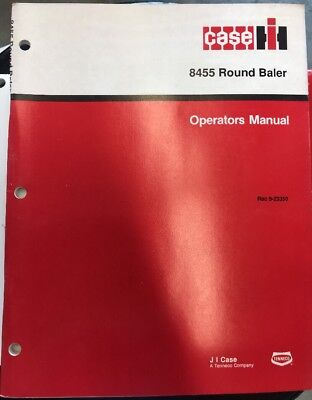 Case Ih 8455 Round Baler Operators Manual