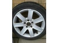 Bmw 17 inch wheel with 225/45 tyre