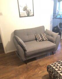 FCUK zinc cuddle sofa grey Scandinavian sofa