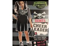 Girls Halloween Bones Cheerleader Costume 5-7 Years new