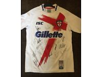 Signed England 4 nations rugby league shirt 2011