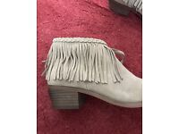 Size 5 Ladies River Island Fringe Boots