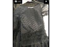 Nik & Kays Boutique lace & tulle top/short dress size 8/10