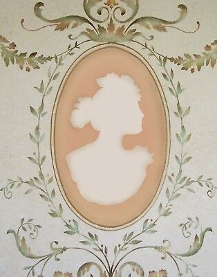 Cameo Ladies Wall Stencil Kit - 3-piece - Elegant Stencils for French Decor! (Stencil Kit)