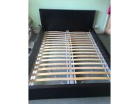 Ikea malm black king size bed with mattress